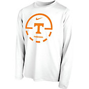 Nike Youth Tennessee Volunteers Legend Basketball Key Long Sleeve White T-Shirt