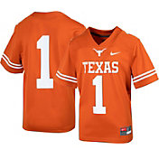 Nike Youth Texas Longhorns #1 Burnt Orange Replica Football Jersey