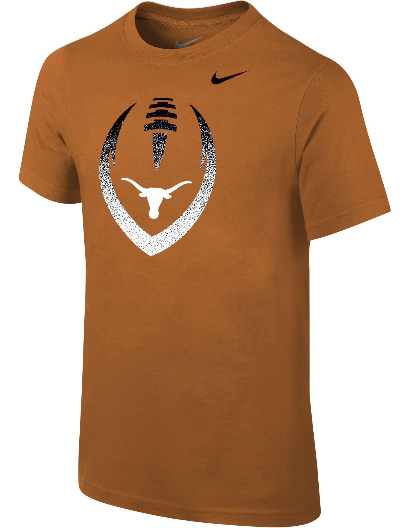 Nike Youth Texas Longhorns Burnt Orange Cotton Football Icon T-Shirt