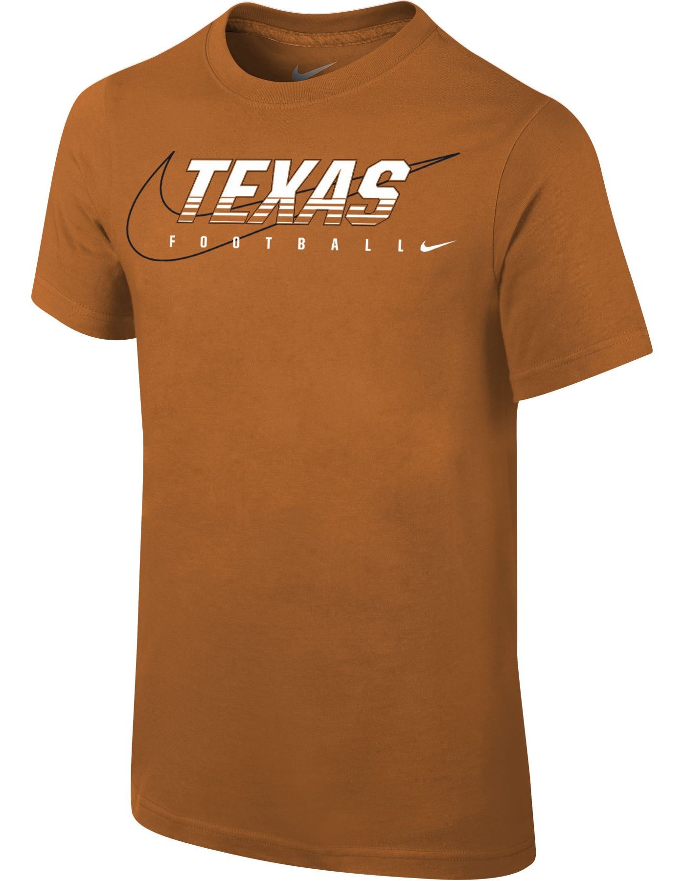 Nike Youth Texas Longhorns Burnt Orange Football Dri-FIT Cotton Facility T-Shirt