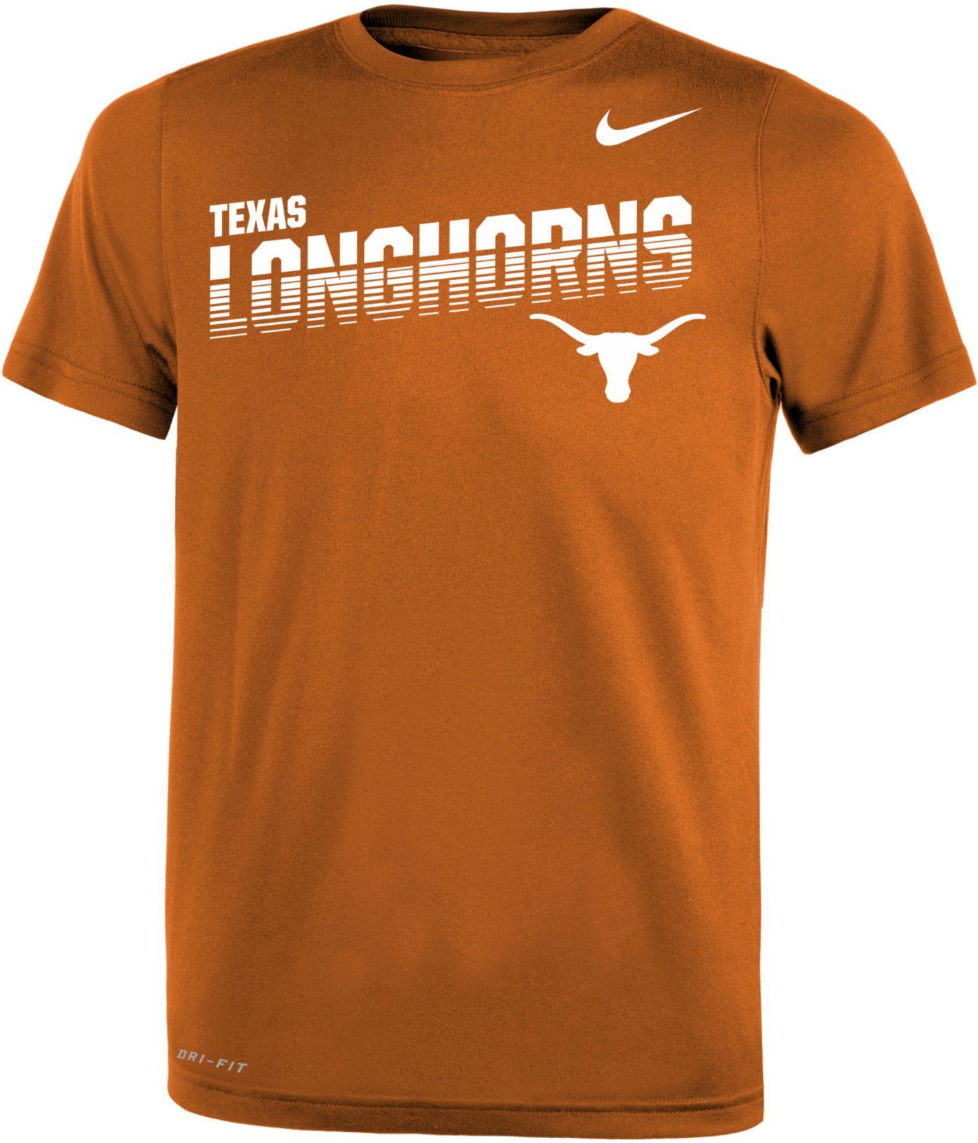 Nike Youth Texas Longhorns Burnt Orange Legend Football Sideline T-Shirt