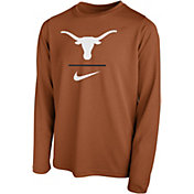 Nike Youth Texas Longhorns Burnt Orange Legend Stacked Long Sleeve T-Shirt