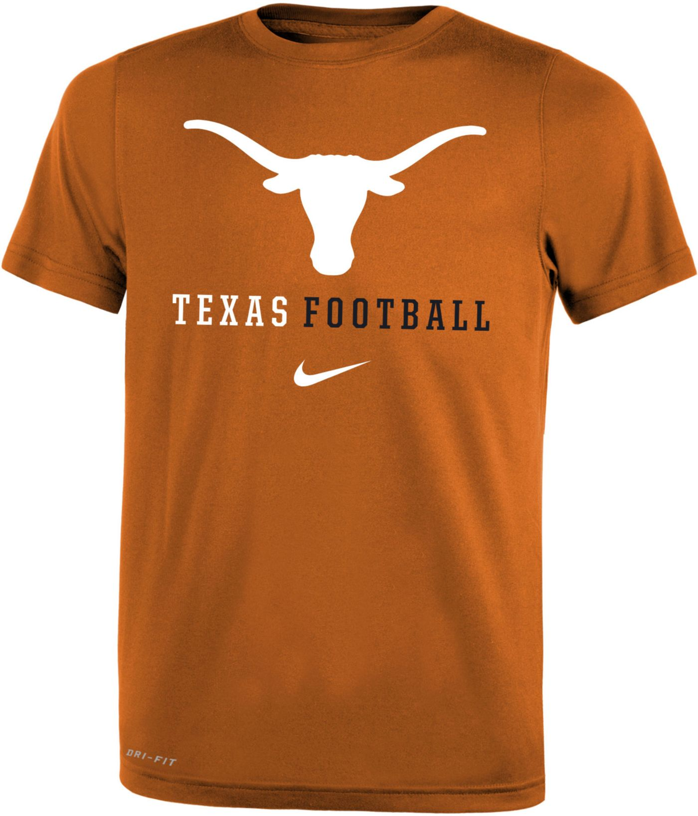 Nike Youth Texas Longhorns Burnt Orange Football Icon Wordmark T-Shirt