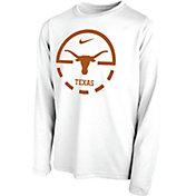 Nike Youth Texas Longhorns Legend Basketball Key Long Sleeve White T-Shirt