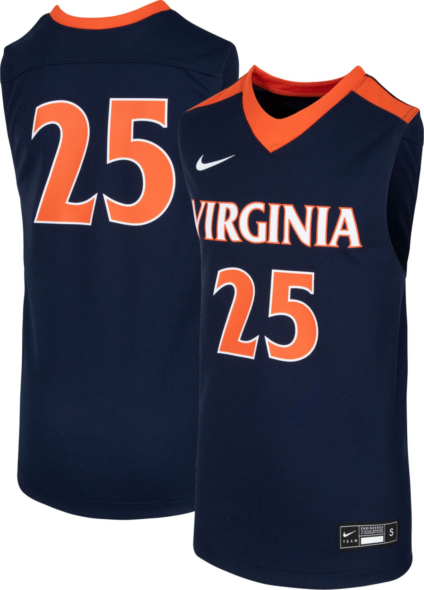 Nike Youth Virginia Cavaliers #25 Blue Replica Basketball Jersey