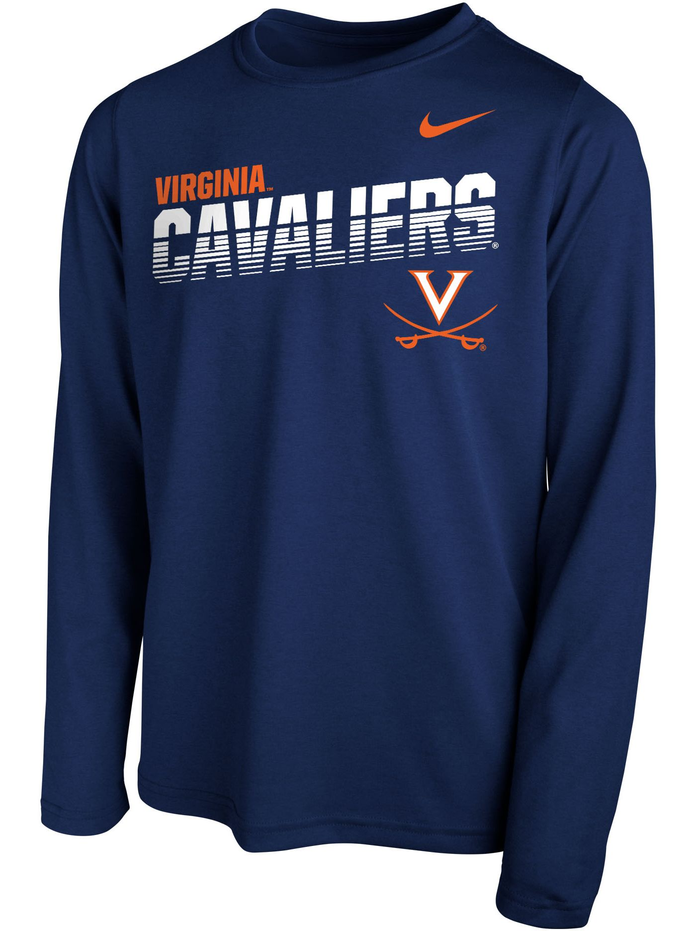 Nike Youth Virginia Cavaliers Blue Legend Football Sideline Long Sleeve T-Shirt