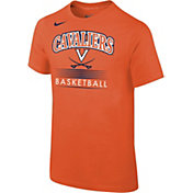 Nike Youth Virginia Cavaliers Orange Cotton Basketball T-Shirt