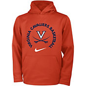 Nike Youth Virginia Cavaliers Orange Therma Basketball Hoodie