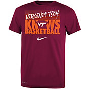 Nike Youth Virginia Tech Hokies Maroon Basketball Phrase T-Shirt