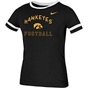 Nike Youth Iowa Hawkeyes Fan Ringer Football Black T-Shirt