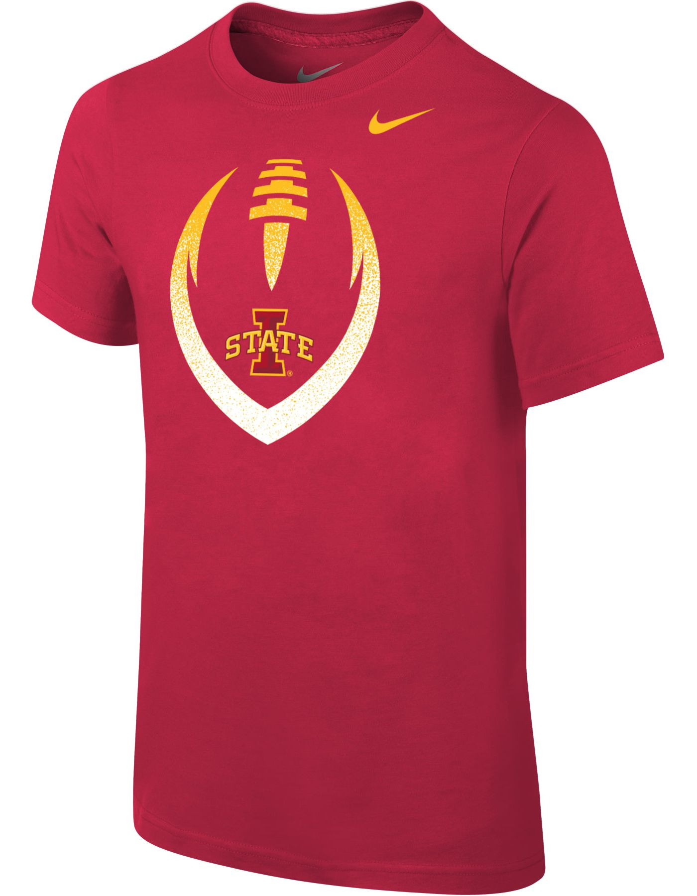 Nike Youth Iowa State Cyclones Cardinal Cotton Football Icon T-Shirt