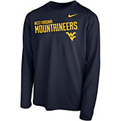 Nike Youth West Virginia Mountaineers Blue Legend Football Sideline Long Sleeve T-Shirt