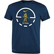 Nike Youth West Virginia Mountaineers Blue Legend Basketball Key T-Shirt