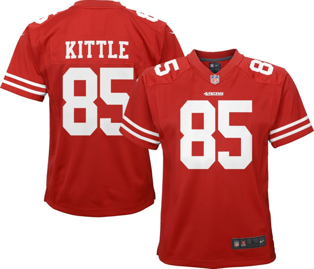 the best attitude b1e06 3a795 Nike Youth Home Game Jersey San Francisco 49ers George Kittle #85