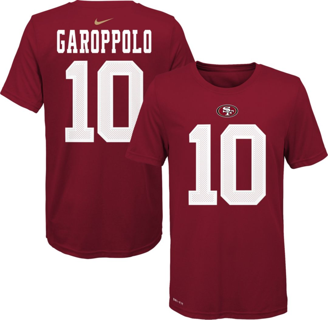 factory price a000a 497ab Nike Youth San Francisco 49ers Jimmy Garoppolo #10 Logo Red T-Shirt