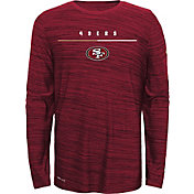 Nike Youth San Francisco 49ers Sideline Legend Velocity Grey Long Sleeve Shirt