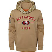 Nike Youth Salute to Service San Francisco 49ers Therma-FIT Beige Hoodie