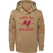 Nike Youth Salute to Service Tampa Bay Buccaneers Therma-FIT Beige Hoodie