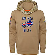 Nike Youth Salute to Service Buffalo Bills Therma-FIT Beige Hoodie