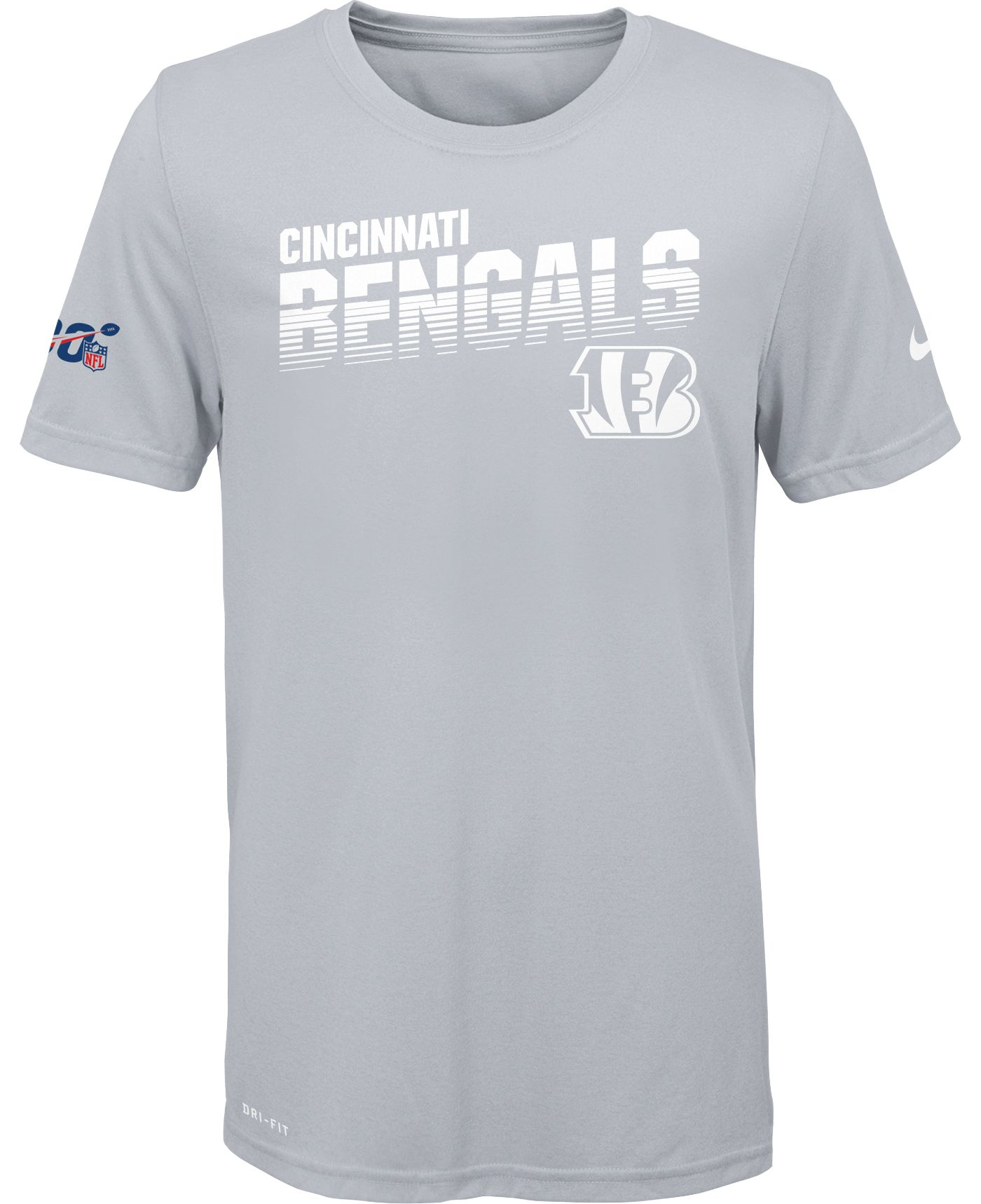 Nike Youth Cincinnati Bengals 100th Sideline Legend Performance White T-Shirt