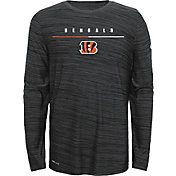 Nike Youth Cincinnati Bengals Sideline Legend Velocity Grey Long Sleeve Shirt