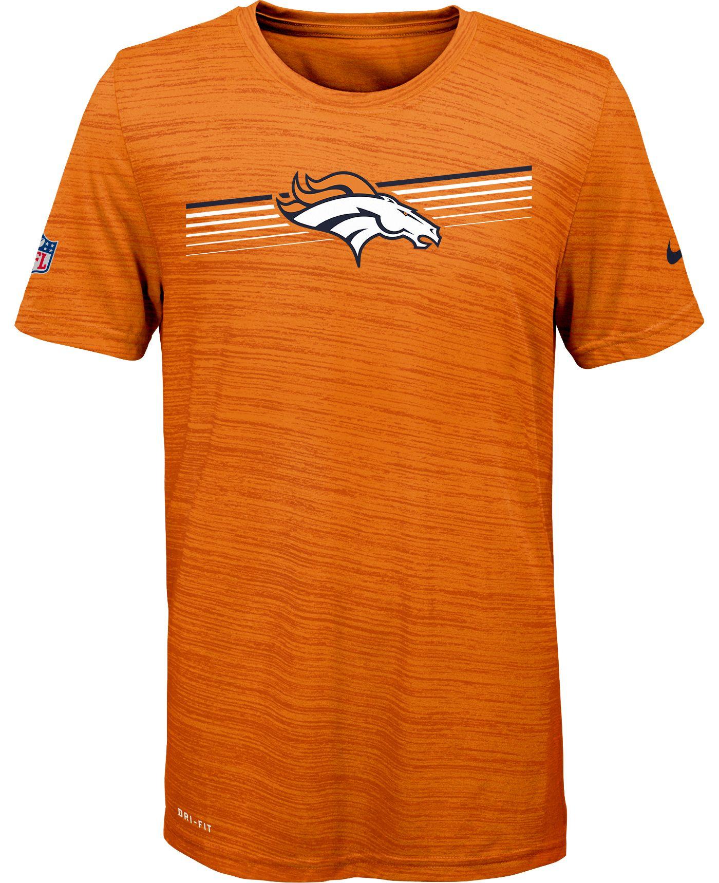 Nike Youth Denver Broncos Legend Velocity Performance Orange T-Shirt