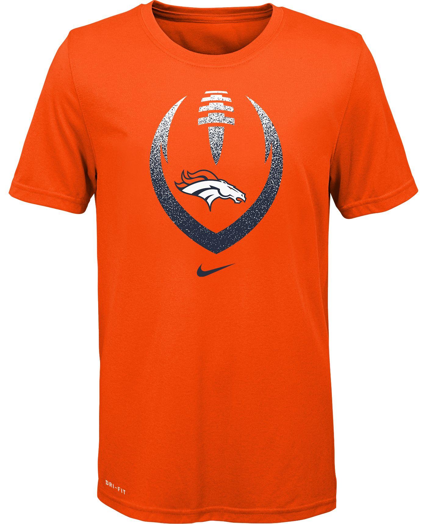 Nike Youth Denver Broncos Icon Performance Orange T-Shirt