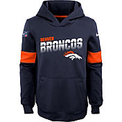 Nike Youth Denver Broncos 100th Sideline Therma-FIT Orange Pullover Hoodie