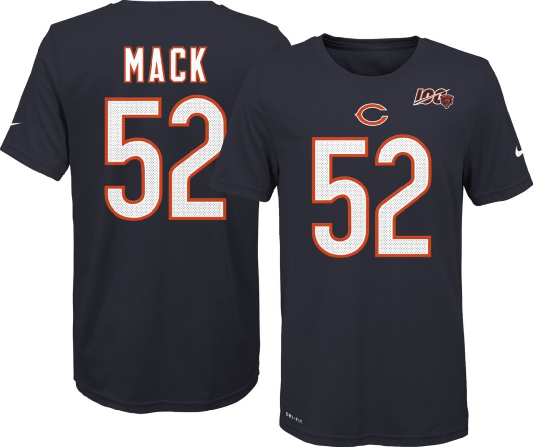 cheap for discount d136e 9e3d0 Nike Youth Chicago Bears Khalil Mack #52 100th Navy T-Shirt