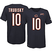 Nike Youth Chicago Bears Mitchell Trubisky #10 100th Navy T-Shirt