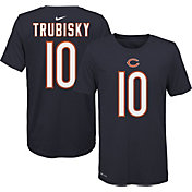 Nike Youth Chicago Bears Mitchell Trubisky #10 Logo Navy T-Shirt