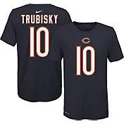 Nike Youth Chicago Bears Mitchell Trubisky #10 Logo Navy T-Shirt