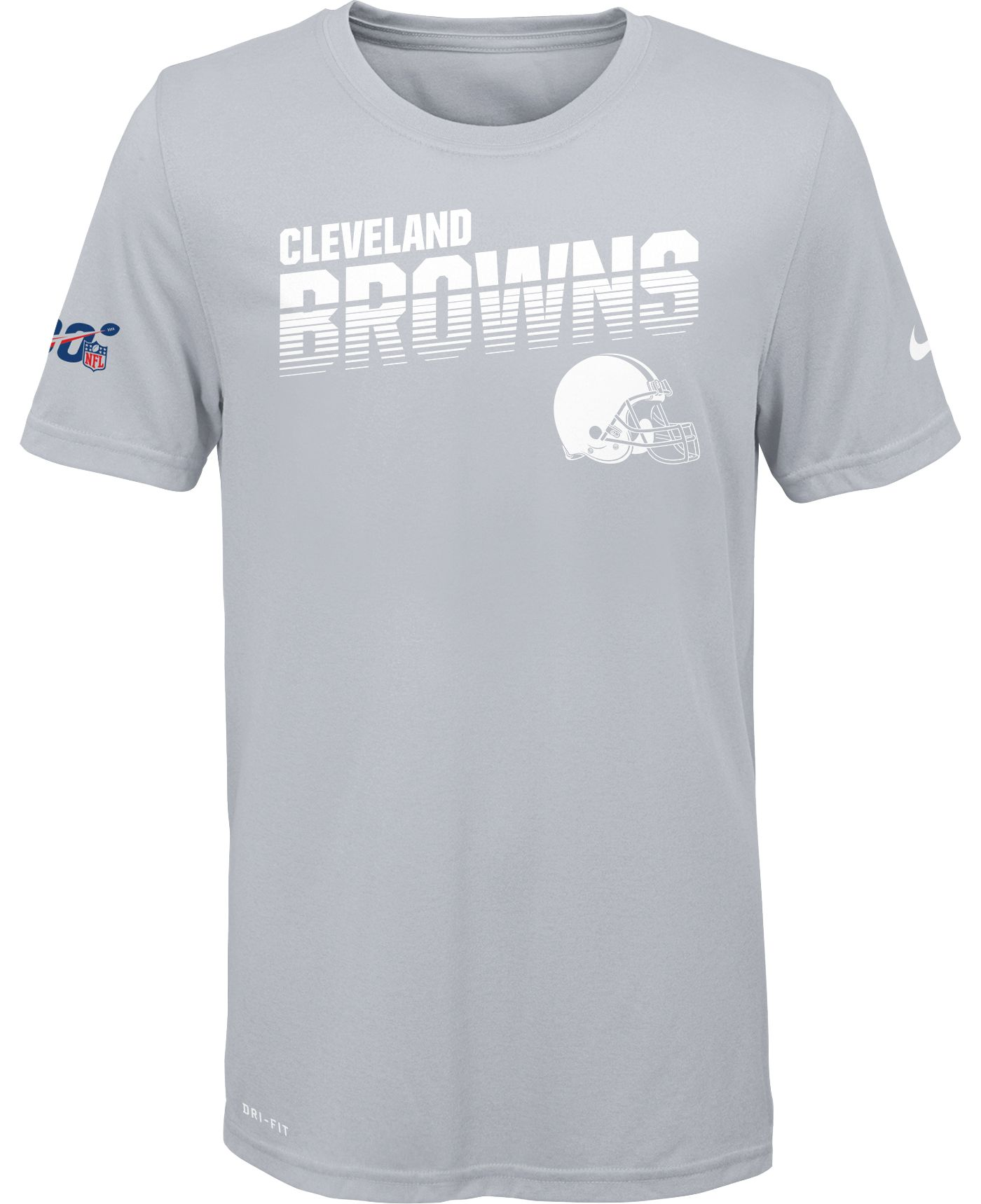 Nike Youth Cleveland Browns 100th Sideline Legend Performance White T-Shirt