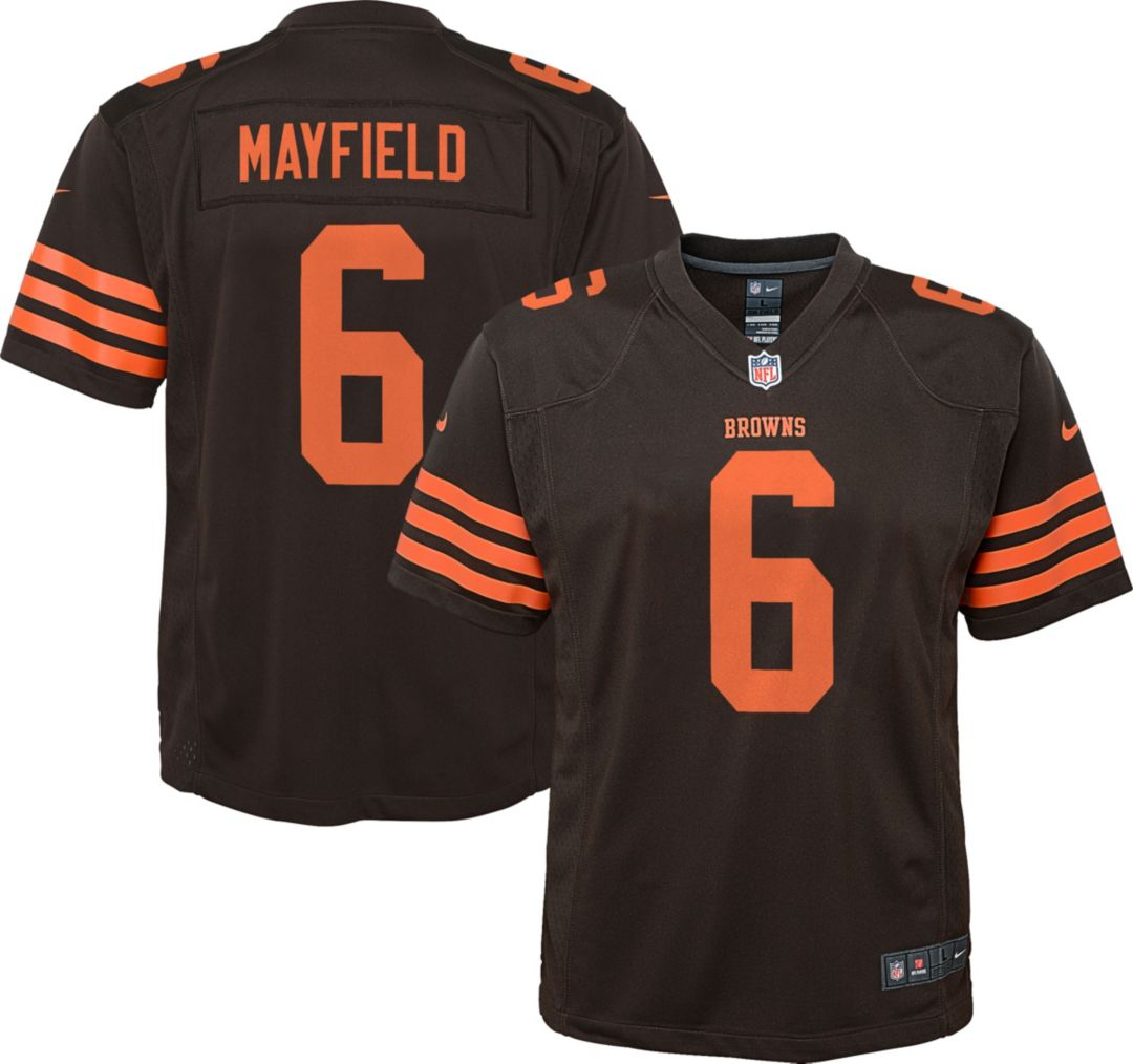 detailed look 5a798 54f90 Nike Youth Color Rush Game Jersey Cleveland Browns Baker Mayfield #6