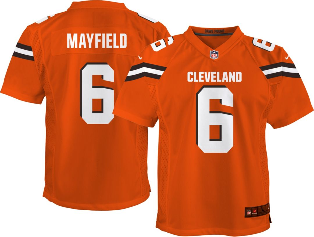 huge discount 5a197 e1cfa Nike Youth Alternate Game Jersey Cleveland Browns Baker Mayfield #6