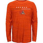 Nike Youth Cleveland Browns Sideline Legend Velocity Orange Long Sleeve Shirt