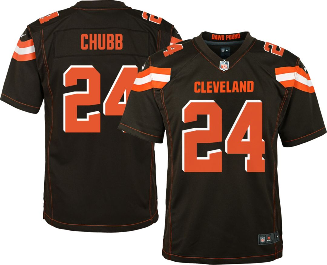 best service 81c98 e16d6 Nike Youth Home Game Jersey Cleveland Browns Nick Chubb #24