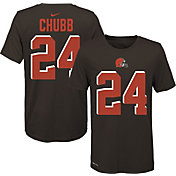 Nike Youth Cleveland Browns Nick Chubb #24 Logo Brown T-Shirt