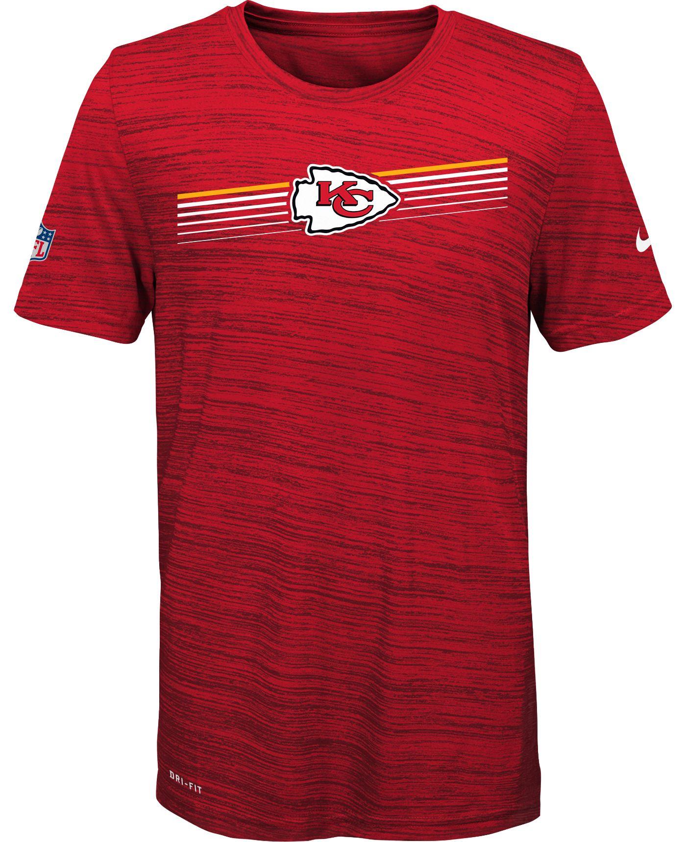 Nike Youth Kansas City Chiefs Legend Velocity Performance Red T-Shirt