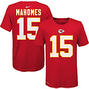 Nike Youth Kansas City Chiefs Patrick Mahomes #15 Logo Red T-Shirt
