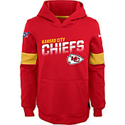 Nike Youth Kansas City Chiefs 100th Sideline Therma-FIT Red Pullover Hoodie