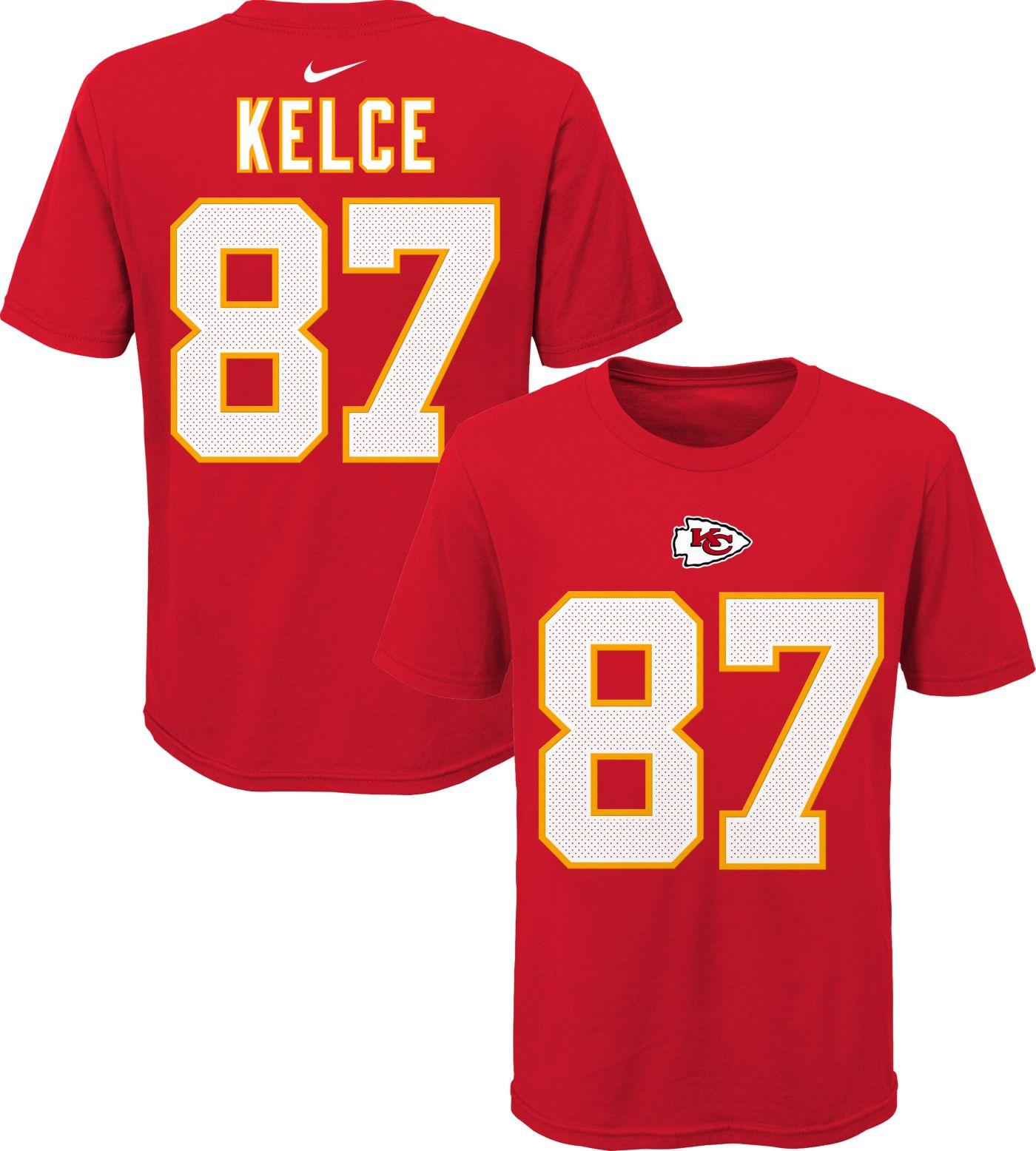 Nike Youth Kansas City Chiefs Travis Kelce #87 Logo Red T-Shirt