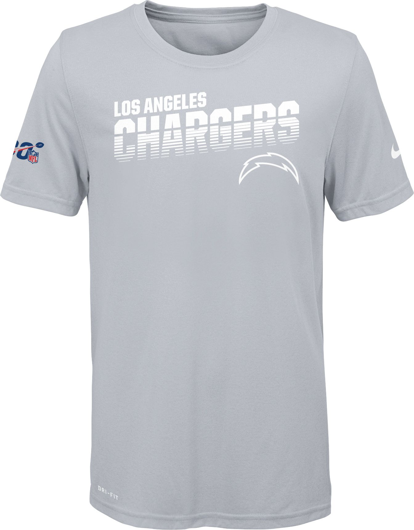 white chargers shirt