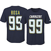 Nike Youth Los Angeles Chargers Joey Bosa #99 Wordmark Navy T-Shirt