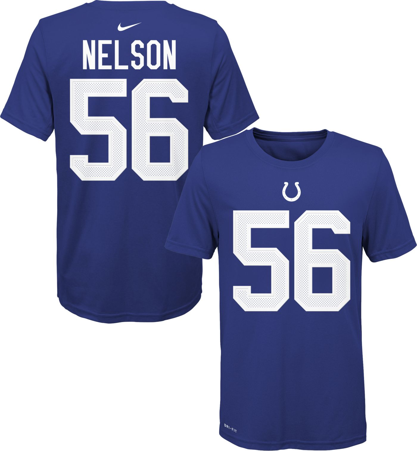 Nike Youth Indianapolis Colts Quenton Nelson #56 Logo Blue T-Shirt