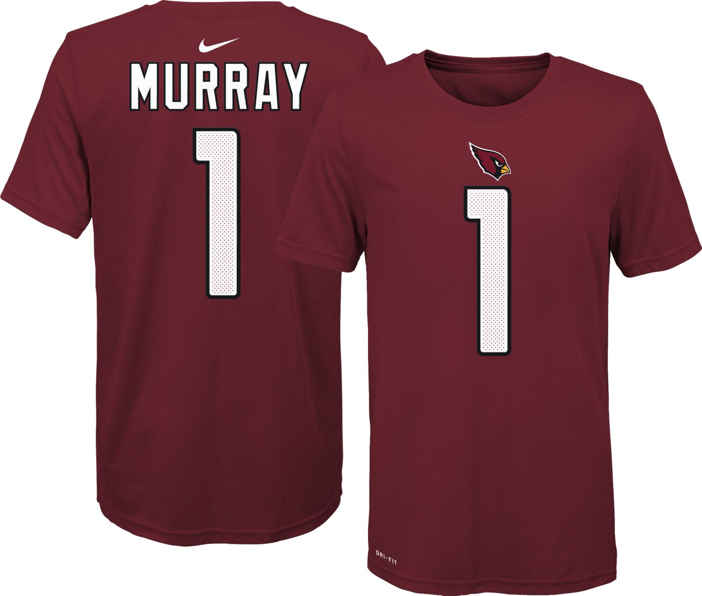 Nike Youth Arizona Cardinals Kyler Murray #1 Logo Red T-Shirt