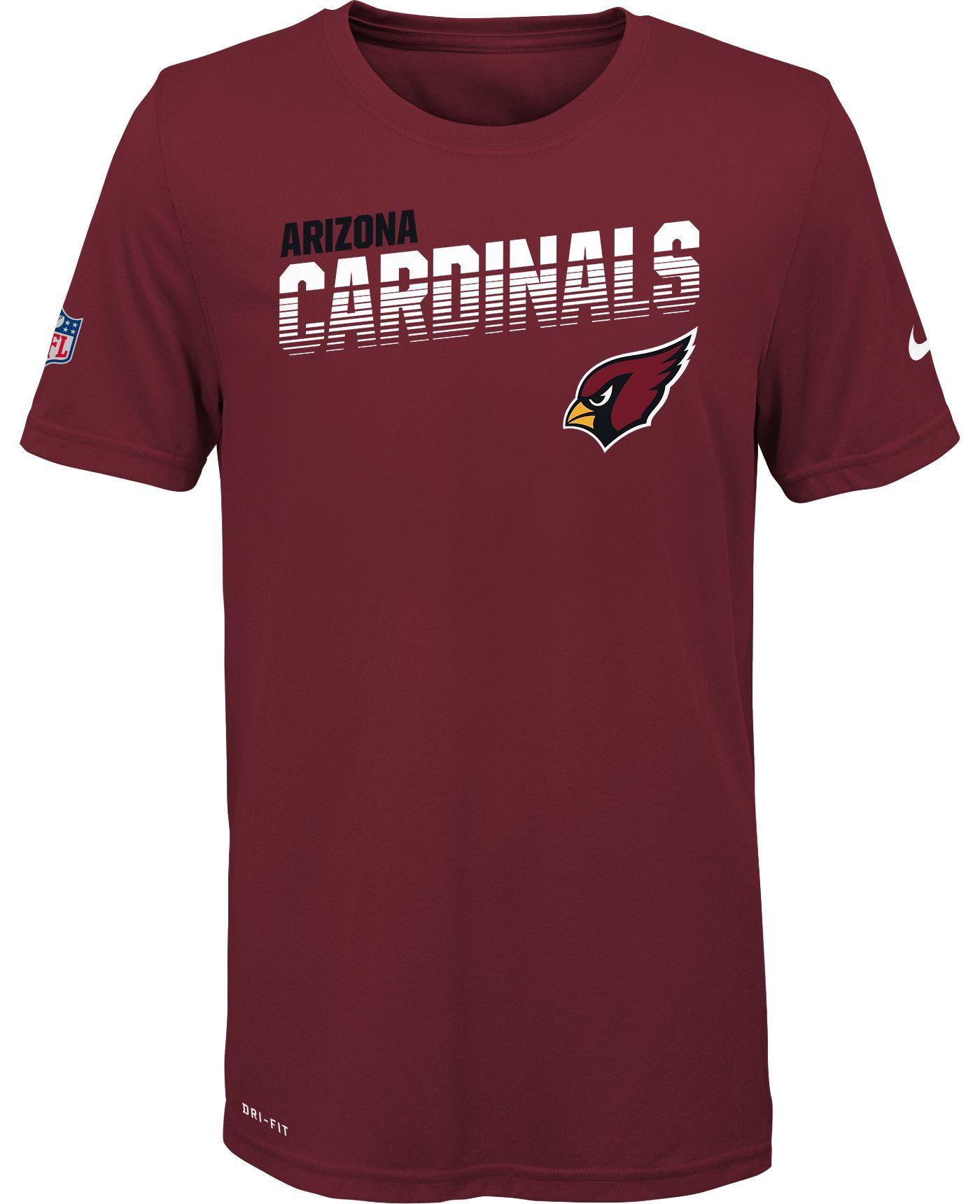Nike Youth Arizona Cardinals Sideline Legend Performance Red T-Shirt