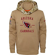 Nike Youth Salute to Service Arizona Cardinals Therma-FIT Beige Hoodie