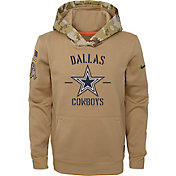 Nike Youth Salute to Service Dallas Cowboys Therma-FIT Beige Camo Hoodie