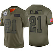 Nike Youth Salute to Service Dallas Cowboys Ezekiel Elliott #21 Olive Game Jersey